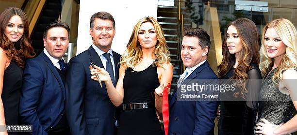 Abbey Clancy and Designer Philip Armstrong open the new Matalan store at Matalan on October 2 2013 in Liverpool England