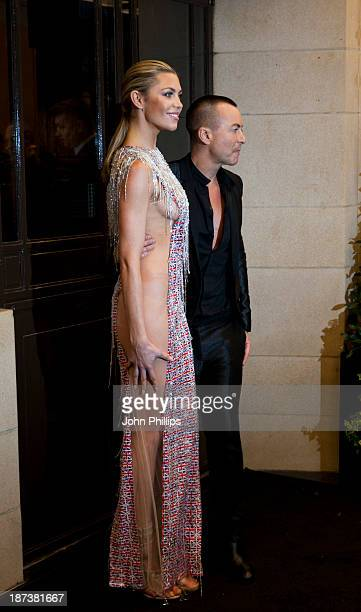 Abbey Clancy and Julien Macdonald attends Fashion for the Brave in support of the British Forces at war at The Dorchester on November 8 2013 in...