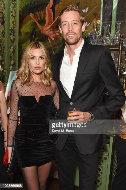 Abbey Clancy and Peter Crouch attend the Annabel's Art Auction fundraiser in aid of Teenage Cancer Trust Teen Cancer America at Annabel's on November...