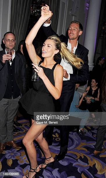 Abbey Clancy and Peter Crouch attend the Esquire Mr Porter and Jimmy Choo party during London Collections Men at Corinthia Hotel London on June 15...