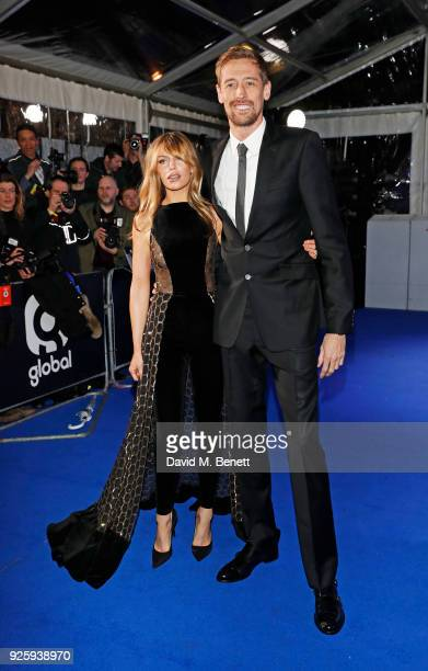Abbey Clancy and Peter Crouch attend The Global Awards 2018 at Eventim Apollo Hammersmith on March 1 2018 in London England