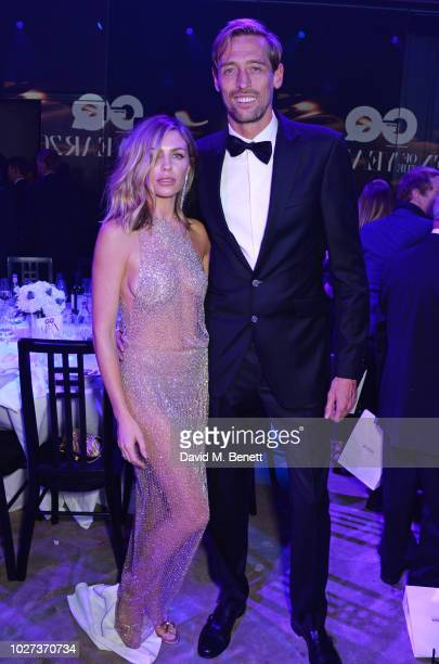 Abbey Clancy and Peter Crouch attend the GQ Men of the Year Awards 2018 in association with HUGO BOSS at Tate Modern on September 5 2018 in London...