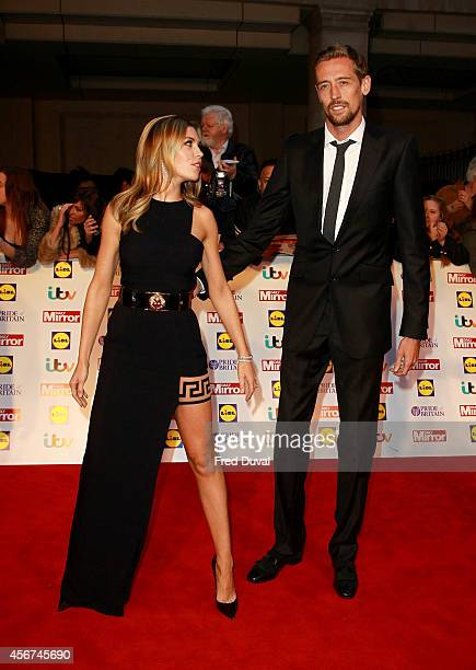 Abbey Clancy and Peter Crouch attend the Pride of Britain awards at The Grosvenor House Hotel on October 6 2014 in London England