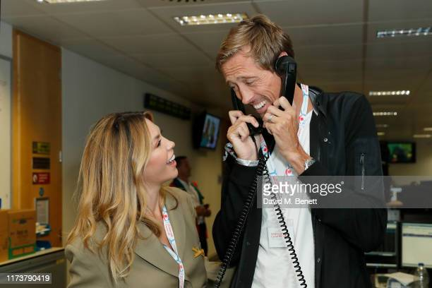 Abbey Clancy and Peter Crouch representing Children with Cancer attend BGC Charity Day at One Churchill Place on September 11, 2019 in London,...