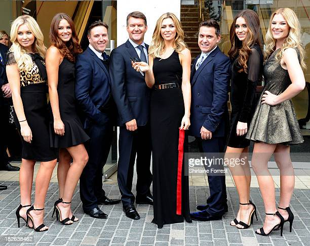 Abbey Clancy and Philip Armstrong open the new Matalan store at Matalan on October 2 2013 in Liverpool England