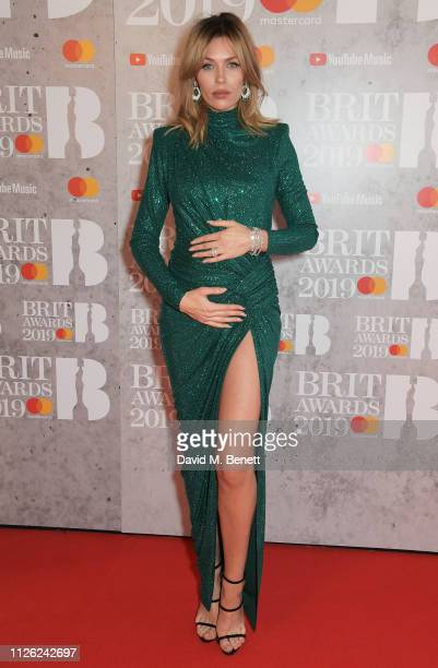 Abbey Clancy arrives at The BRIT Awards 2019 held at The O2 Arena on February 20 2019 in London England