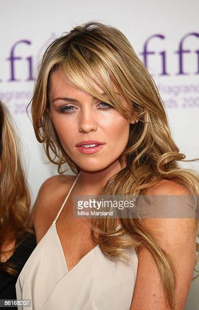 Abbey Clancy arrives at The FiFi UK Fragrance Awards 2009 at The Dorchester Hotel on April 22 2009 in London