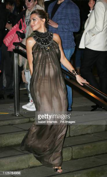 Abbey Clancy arrives at the Late Fabulous Fund Fair at the Roundhouse in London during the Autumn/Winter 2019 London Fashion Week PRESS ASSOCIATION...