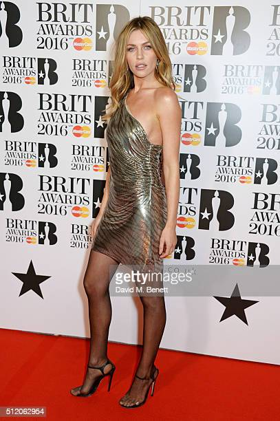 Abbey Clancy arrives the BRIT Awards 2016 at The O2 Arena on February 24 2016 in London England