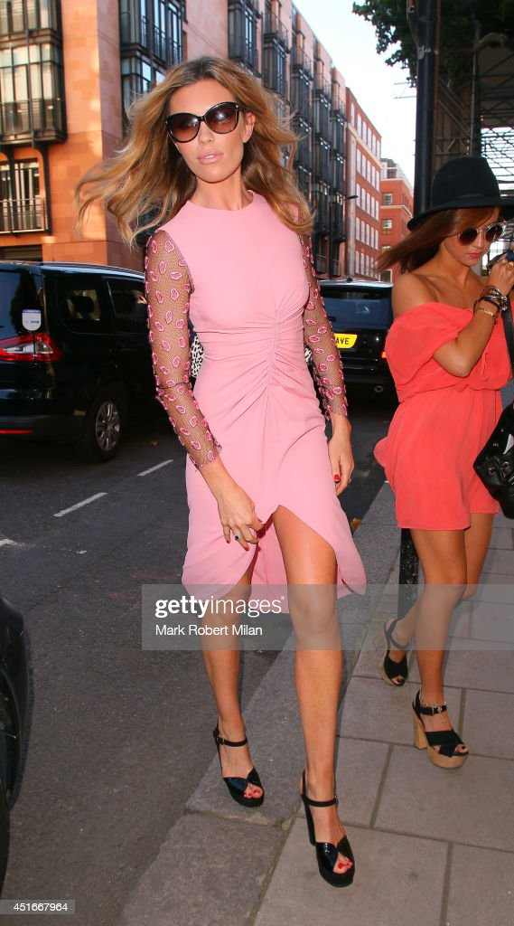 Abbey Clancy at Alfred Dunhill for the Love Magazine Screening on July 3, 2014 in London, England.