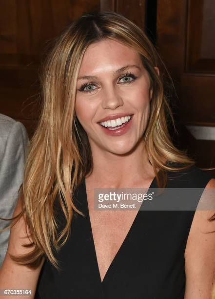 Abbey Clancy attends a VIP dinner celebrating the private view of The Maddox Gallery's Bradley Theodore exhibition at The Arts Club on April 19 2017...
