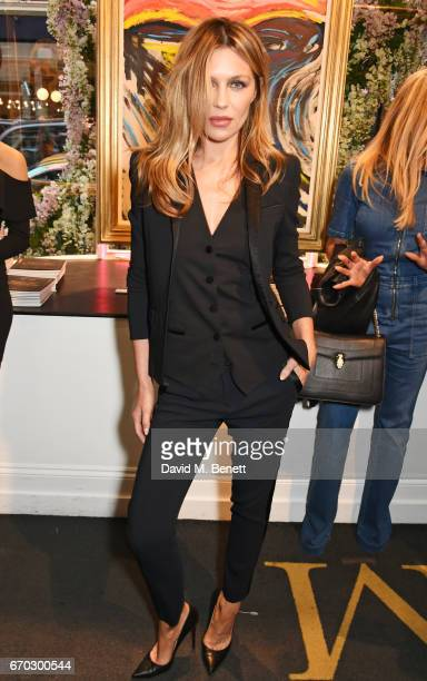 Abbey Clancy attends a VIP private view for New York artist Bradley Theodore at Maddox Gallery on April 19 2017 in London England