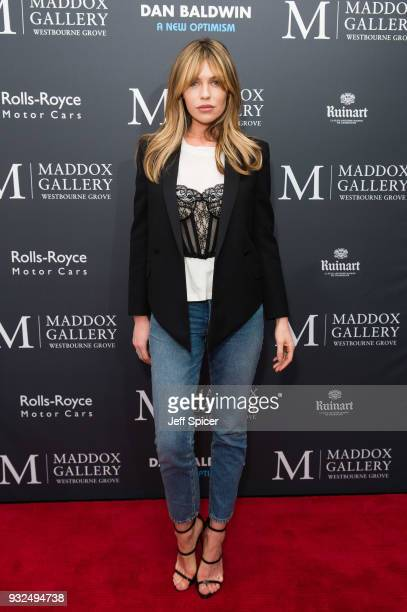 Abbey Clancy attends Dan Baldwin's 'A New Optimism' private view at Maddox Gallery on March 15 2018 in London England
