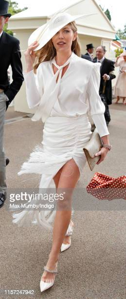 Abbey Clancy attends day three, Ladies Day, of Royal Ascot at Ascot Racecourse on June 20, 2019 in Ascot, England.