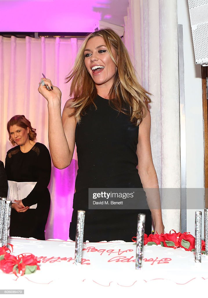 Abbey Clancy attends Lifetime's launch of Britain's Next Top Model airing tonight at 9pm on Lifetime at Kensington Roof Gardens on January 14, 2016 in London, England.