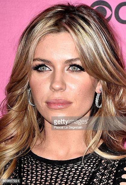 Abbey Clancy attends the annual Victoria's Secret fashion show at Earls Court on December 2 2014 in London England