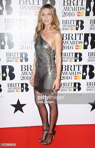 Abbey Clancy attends the BRIT Awards 2016 at The O2 Arena on February 24 2016 in London England