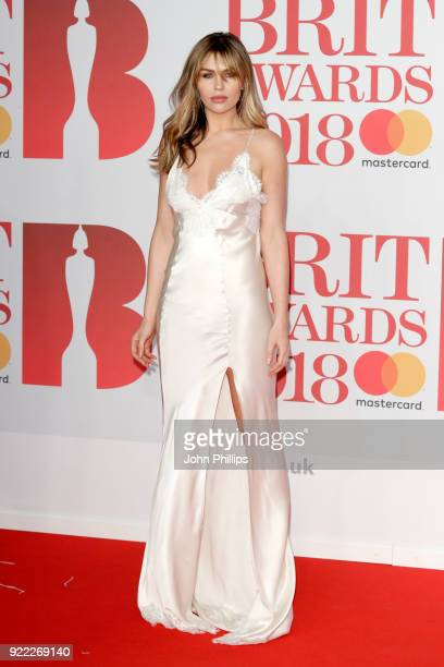 AWARDS 2018*** Abbey Clancy attends The BRIT Awards 2018 held at The O2 Arena on February 21 2018 in London England
