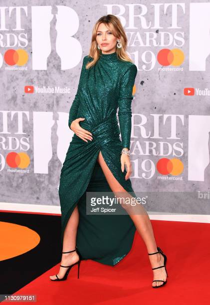 Abbey Clancy attends The BRIT Awards 2019 held at The O2 Arena on February 20 2019 in London England