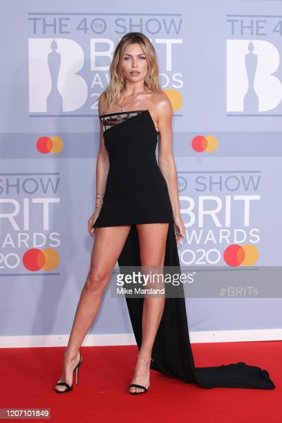 Abbey Clancy attends The BRIT Awards 2020 at The O2 Arena on February 18 2020 in London England