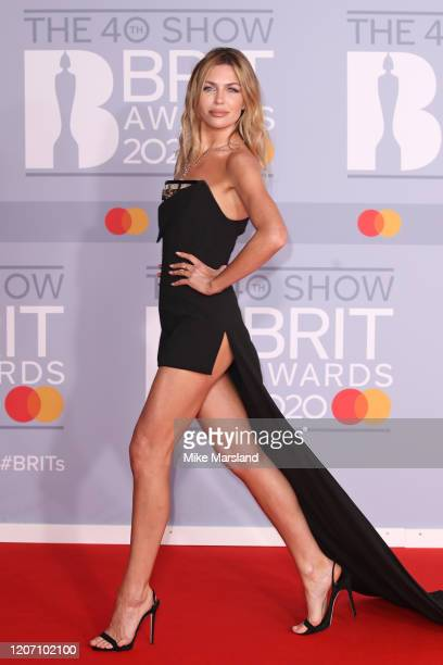 Abbey Clancy attends The BRIT Awards 2020 at The O2 Arena on February 18, 2020 in London, England.