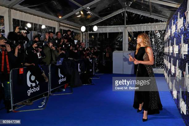 Abbey Clancy attends The Global Awards 2018 at Eventim Apollo Hammersmith on March 1 2018 in London England