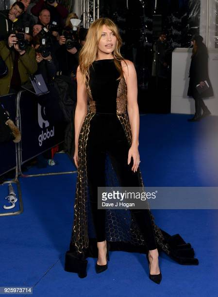 Abbey Clancy attends The Global Awards a brand new awards show hosted by Global the Media Entertainment Group at Eventim Apollo Hammersmith on March...