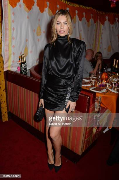 Abbey Clancy attends the LOVE Magazine 10th birthday party with PerrierJouet at Loulou's on September 17 2018 in London England