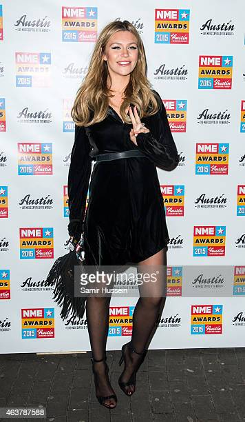 Abbey Clancy attends the NME Awards at Brixton Academy on February 18 2015 in London England