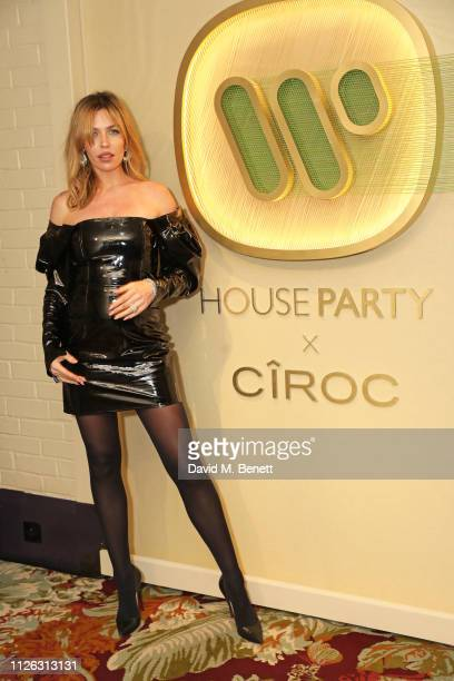 Abbey Clancy attends the Warner Music CIROC Vodka House Party in association with GQ at Chiltern Firehouse on February 20 2019 in London England