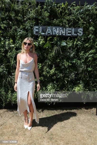 Abbey Clancy attends the Westchester Cup Polo at the Flannels marquee the Royal County of Berkshire Polo Club on July 28 2018 in Windsor England