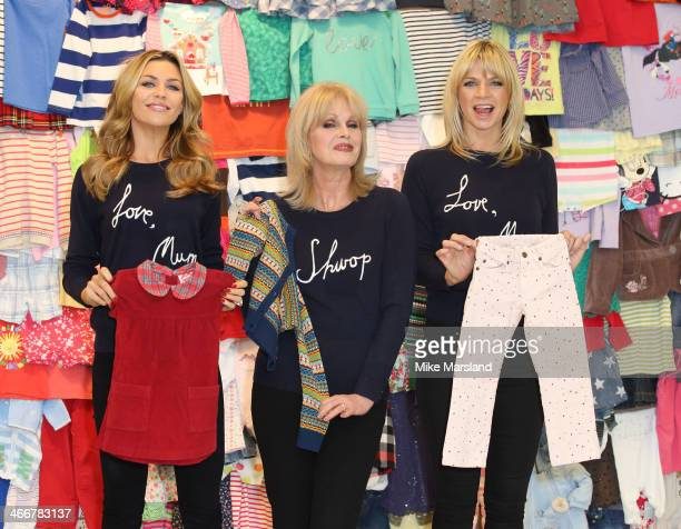 Abbey Clancy Joanna Lumley and Zoe Ball attend a photocall to launch the MS 'Love Mum' shwopping campaign in conjunction with Oxfam at Marks Spencer...
