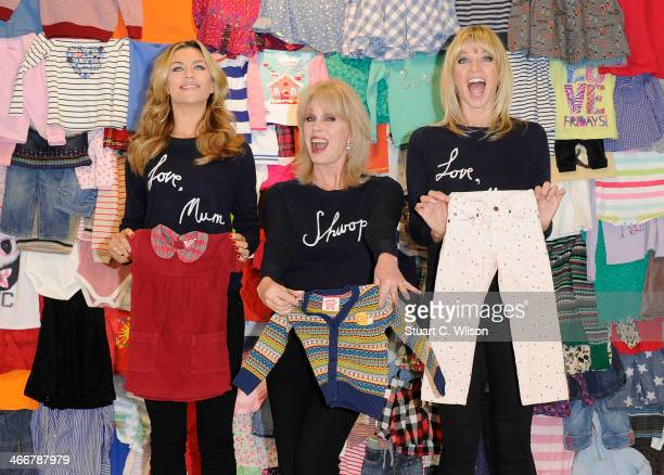 Abbey Clancy Joanna Lumley and Zoe Ball attends a photocall to launch the MS 'Love Mum' shwopping campaign in conjunction with Oxfam at Marks Spencer...