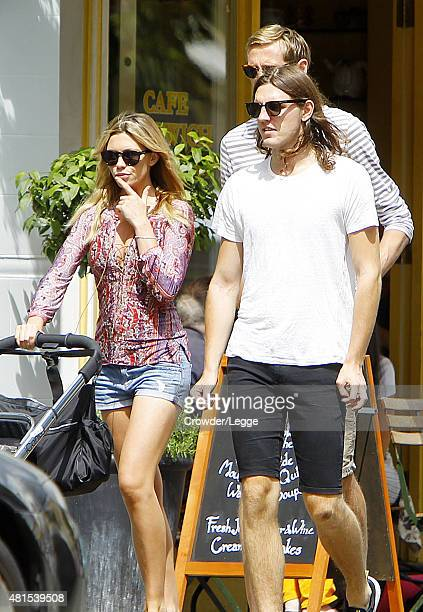 Abbey Clancy Sean Clancy and Peter Crouch are spotted out and about in North London with their daughter Liberty Rose on July 22 2015 in London England