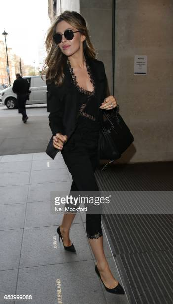 Abbey Clancy seen at BBC Radio One on March 16 2017 in London England
