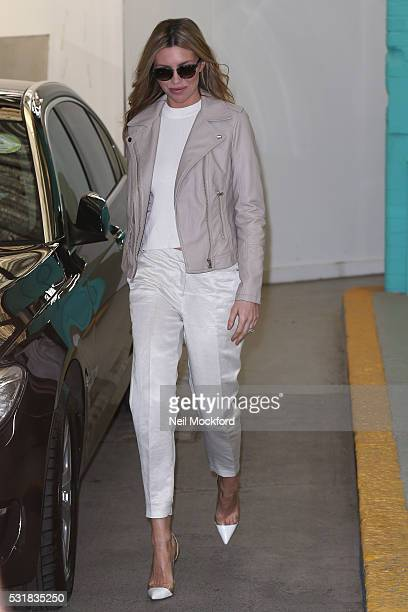 Abbey Clancy seen at the ITV Studios after appearing on This Morning on May 17 2016 in London England