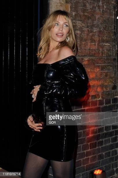 Abbey Clancy seen attending the BRITS 2019 Warner Brothers After Party at the Chiltern Firehouse on February 20 2019 in London England