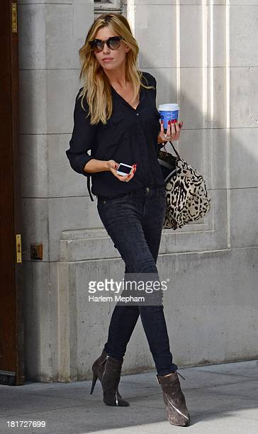 Abbey Clancy sighted leaving BBC Radio One on September 24 2013 in London England