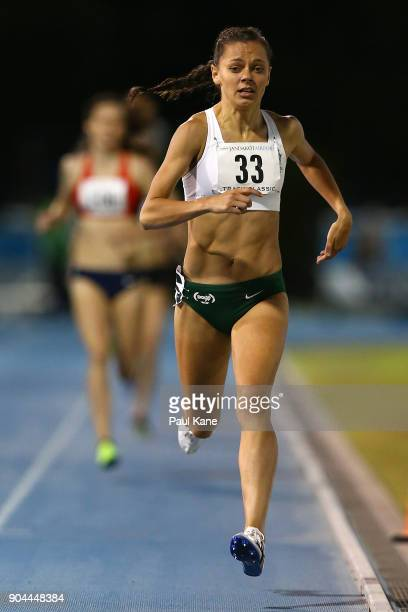 Abbey de La Motte competes in the women's 800 metre during the Jandakot Airport Perth Track Classic at WA Athletics Stadium on January 13 2018 in...