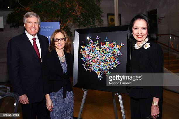 Abbey Doneger President of Doneger Group Karen Giberson President of Accessories Council and Dr Joyce Brown President of the Fashion Institute of...