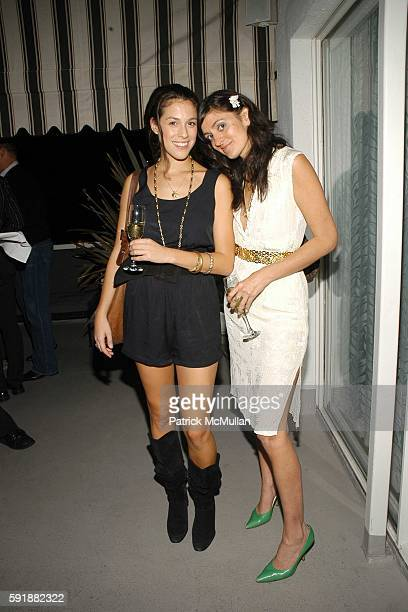Abbey Drucker and Jauretsi attend Champagne Reception to celebrate CHAMPAGNE PERRIER JOUËT hosted by Patricia Velasquez and JeanMarie Barillère...