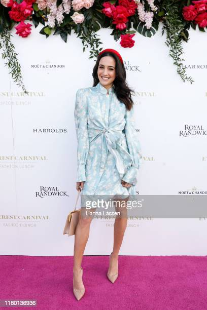 Abbey Gelmi attends the Everest Carnival Fashion Lunch at Royal Randwick Racecourse on October 10 2019 in Sydney Australia