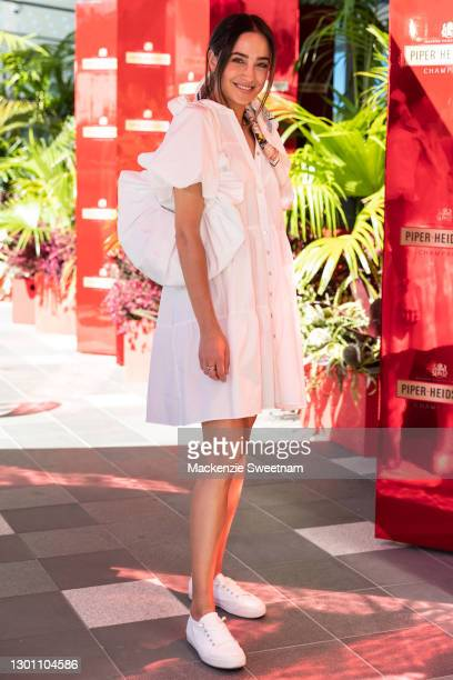 Abbey Gelmi attends the Piper-Heidsieck Champagne Bar during the 2021 Australian Open at Melbourne Park on February 09, 2021 in Melbourne, Australia.