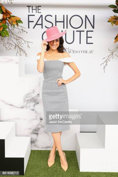 Abbey Gelmi poses during Ladies Day at the 2017 Sydney Carnival at Rosehill Gardens on March 11 2017 in Sydney Australia