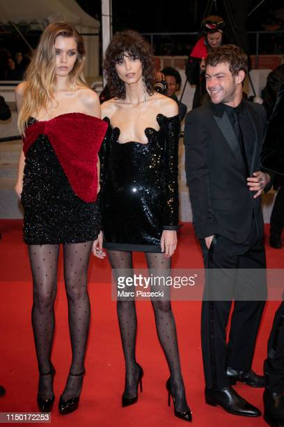 """Abbey Lee and Mica Arganaraz attend the screening of """"Lux Aetterna"""" during the 72nd annual Cannes Film Festival on May 18, 2019 in Cannes, France."""