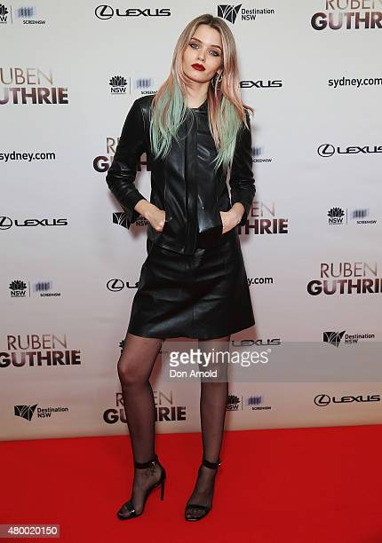 Abbey Lee arrives at the Ruben Guthrie Gala Screening on July 9 2015 in Sydney Australia