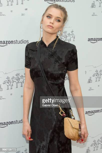 Abbey Lee Kershaw arrives to the Amazon Studios premiere of 'Don't Worry He Wont Get Far On Foot' at ArcLight Hollywood on July 11 2018 in Hollywood...