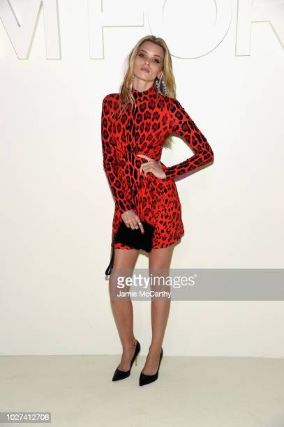 Abbey Lee Kershaw attends the Tom Ford fashion show during New York Fashion Week at Park Avenue Armory on September 5 2018 in New York City