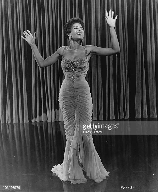 Abbey Lincoln performs in the film 'The Girl Can't Help It' in 1956 in the United States
