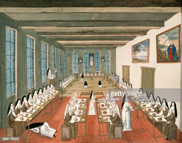 Abbey of PortRoyal des Champs Female Cistercian Monastery diffuser of Jansenism Refectory Painting attributed to Madeleine Boulogne Castle of...